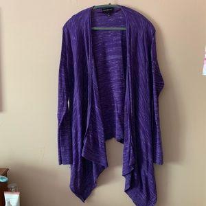 Lane Bryant Purple Cardigan